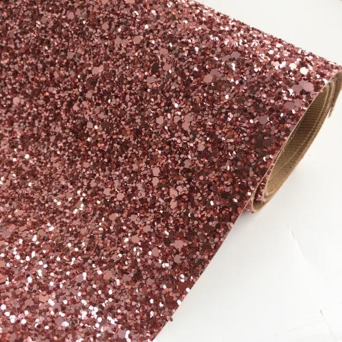 Premium Chunky Glitter Fabric - Rose Gold