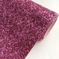 Premium Chunky Glitter Fabric - Rose Pink
