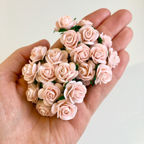 Mulberry Paper Open Roses - Pink Mist 10mm 15mm 20mm