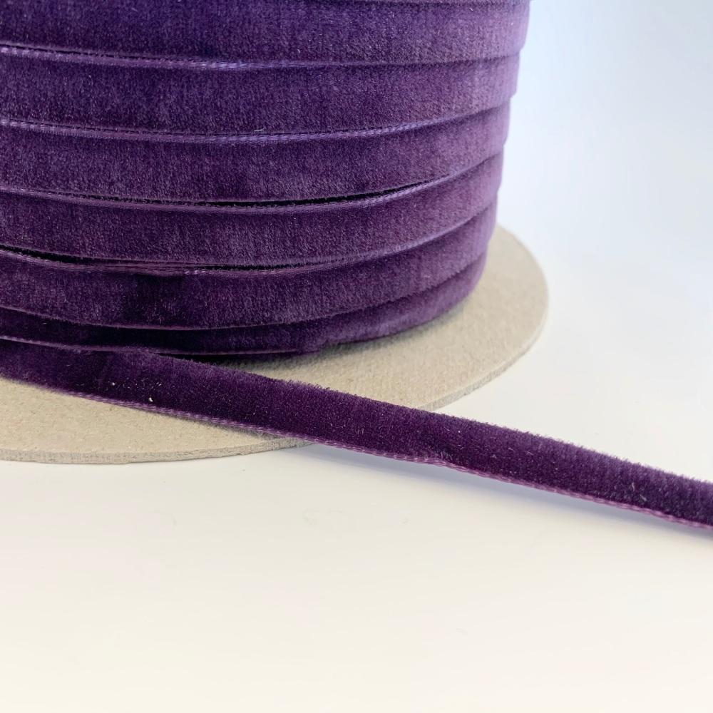 9mm Velvet Ribbon - Damson