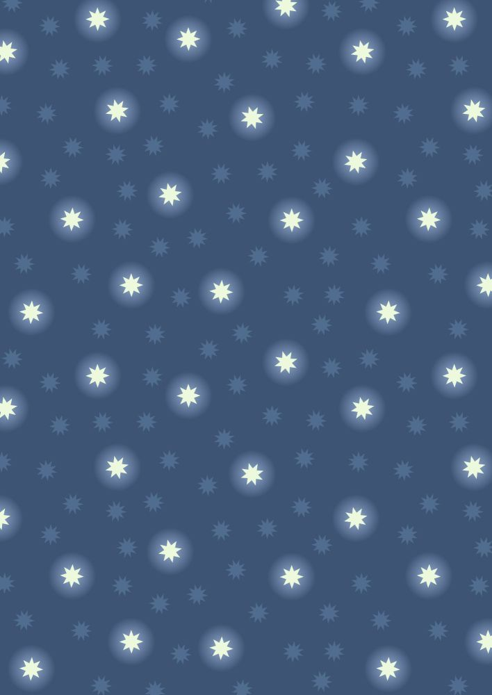 Lewis and Irene -  Fairy NIghts - Starry Sky on Midnight Blue - Glow in the