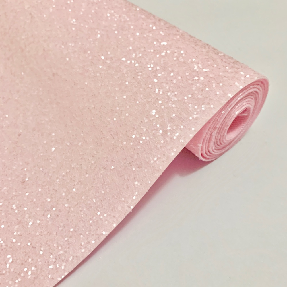Premium Frosted Glitter Fabric - Pink