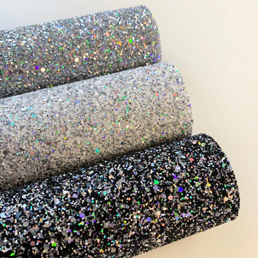 Premium Holographic Glitter Fabric 20 x 30cm Bundle