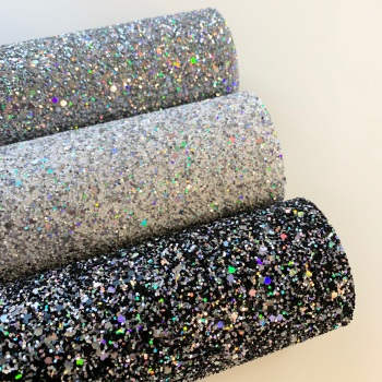 Premium Holographic Glitter Fabric 20 x 30cm Bundle