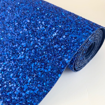 Premium Chunky Glitter Fabric - Royal Blue