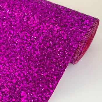 Premium Chunky Glitter Fabric - Fuchsia