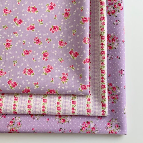 Sevenberry - Lovely Flower Lilac Floral - Felt Backed Fabric