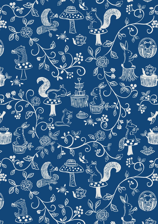 Lewis and Irene - Tea Time - Teatime on Dark Blue