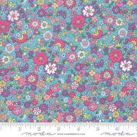 Moda Fabrics - Regent Street Lawn 2020 - Floral Camden Turquoise