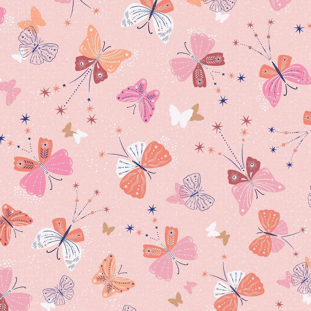 Celeste by Dashwood Studio -  Metallic Butterflies Pink