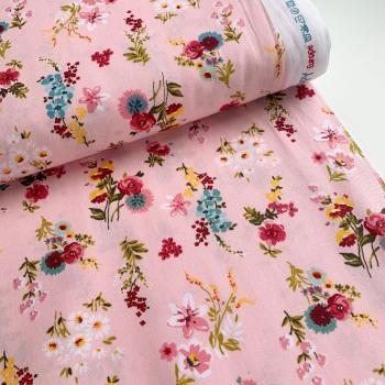 Poppy Europe Fabrics - Flowery - Pink