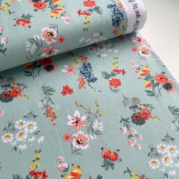 Poppy Europe Fabrics - Flowery - Mint