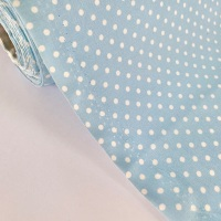 Rose and Hubble Fabrics - 100% Cotton Poplin  3mm Spots Polka Dot Powder Blue