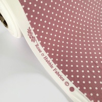 Rose and Hubble Fabrics - 100% Cotton Poplin  3mm Spots Polka Dot Rose