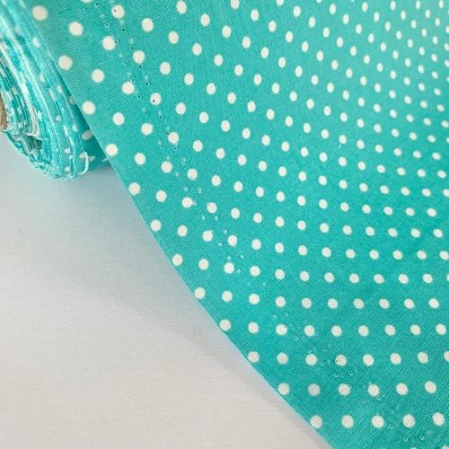 Rose and Hubble Fabrics - 100% Cotton Poplin  3mm Spots Polka Dot Pastel Tu