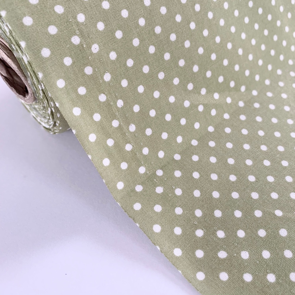 Rose and Hubble Fabrics - 100% Cotton Poplin  3mm Spots Polka Dot Meadow