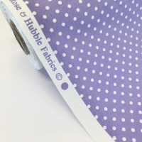 Rose and Hubble Fabrics - 100% Cotton Poplin  3mm Spots Polka Dot Lilac