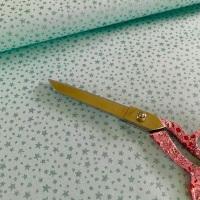 Poppy Europe Fabrics - Little Star - Mint Metallic