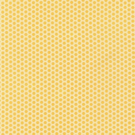 Robert Kaufman  - Bees Knees - Honey - Felt Backed Fabric