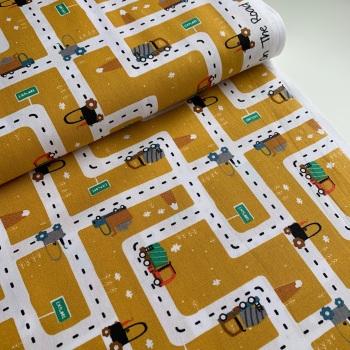 Poppy Europe Fabrics - On the Road - Ochre