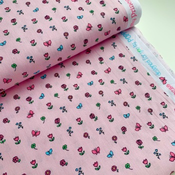 Poppy Europe Fabrics - Pretty Princess Floral - Pink