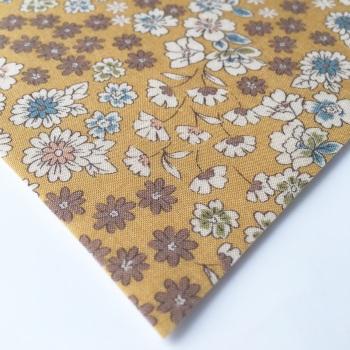 Frou Frou - Fleuri 22 Poussiere D'or - Felt Backed Fabric