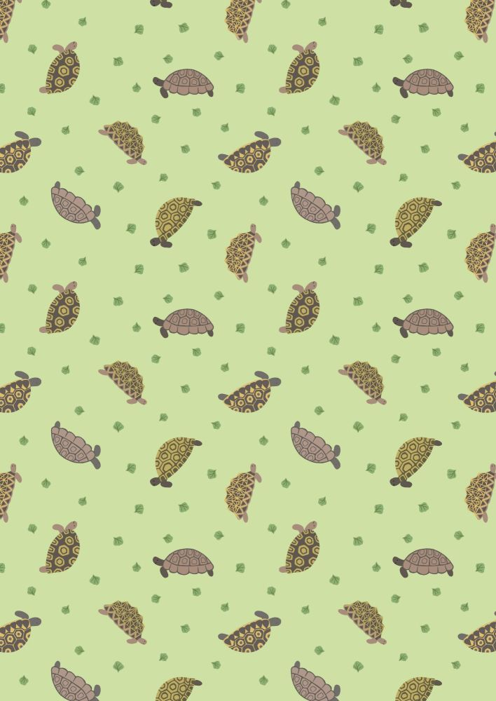 Lewis and Irene -  Small Things Pets - Tortoises on Light Green