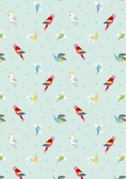 Lewis and Irene -  Small Things Pets - Birds on Light Peppermint