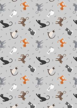 Lewis and Irene -  Small Things Pets - Cats on Pale Grey