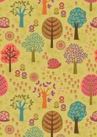 Lewis and Irene - Flower Child -  Groovy Forest on Yellow