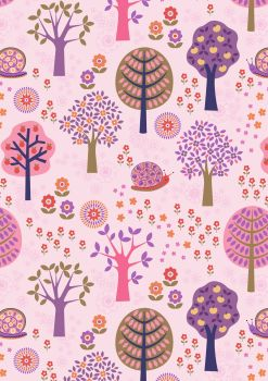 Lewis and Irene - Flower Child -  Groovy Forest on Pink