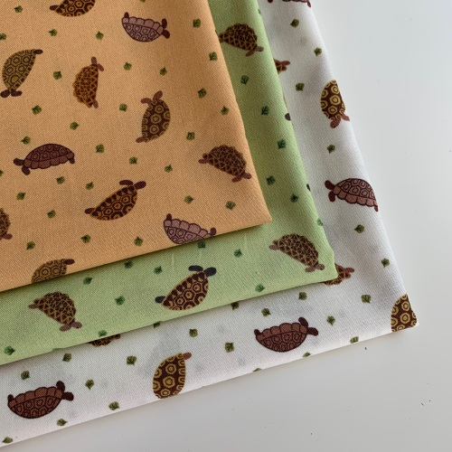 Lewis and Irene - Small Things Pets - Tortoises - Felt Backed Fabric