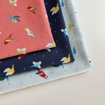 Lewis and Irene - Small Things Pets - Birds - Felt Backed Fabric