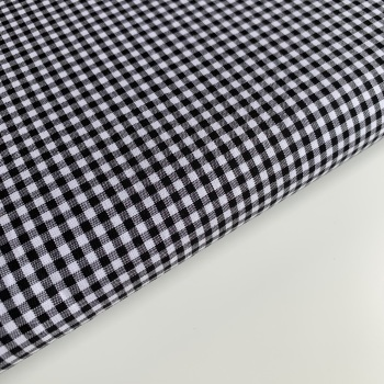 "Black 1/8"" Gingham  - Felt Backed Fabric"