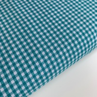 """100% Yarn Dyed Cotton 1/8"""" Gingham - Teal"""