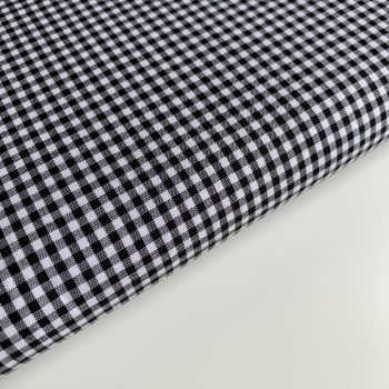 "100% Yarn Dyed Cotton 1/8"" Gingham - Black"