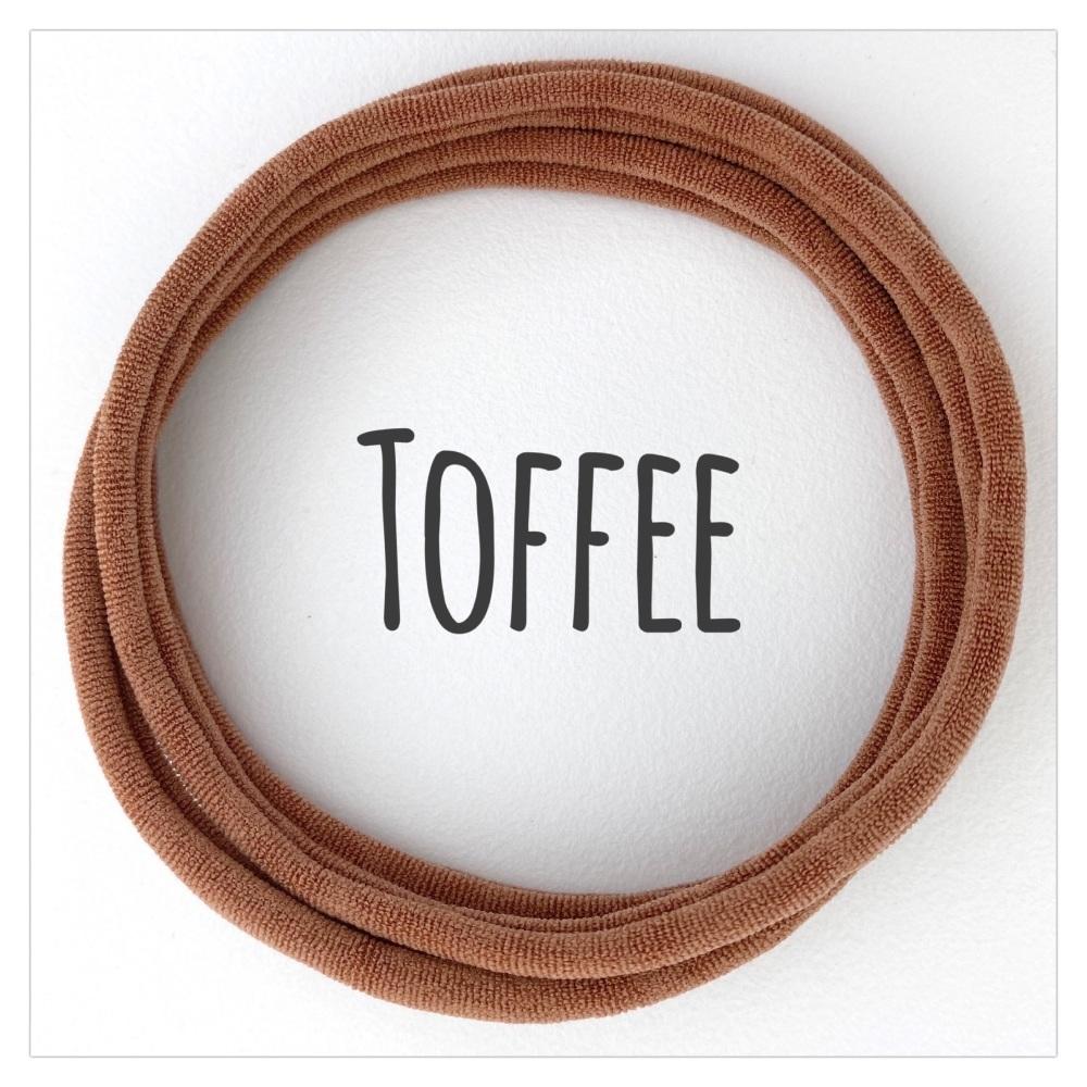 Toffee Dainties Nylon Headbands
