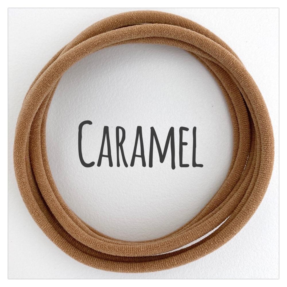Caramel Dainties Nylon Headbands