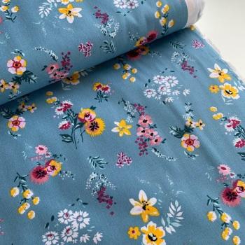 Poppy Europe Fabrics - Flowery - Blue