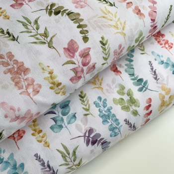 John Louden - Eucalyptus - Felt Backed Fabric