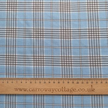 Tartan - Baby Blue - Felt Backed Fabric