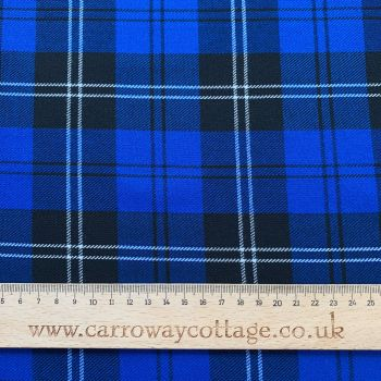 Tartan - Royal Blue - Felt Backed Fabric