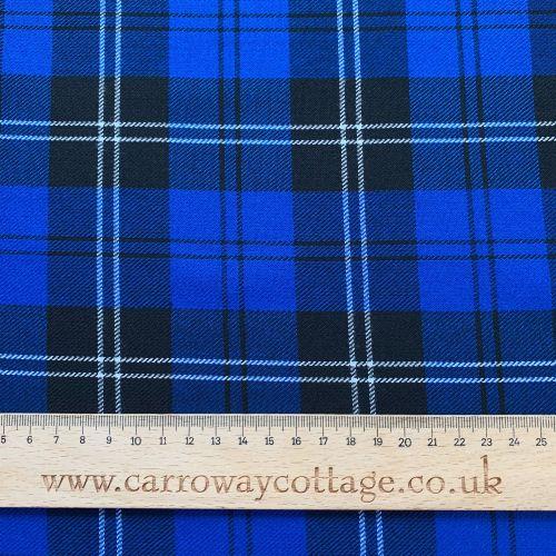 Tartan - Royal Blue - Felt Backed Fabric