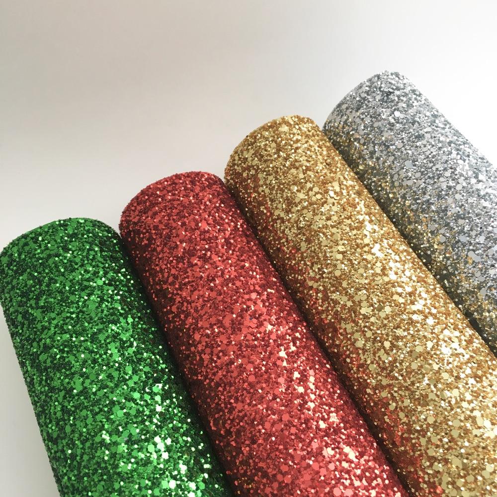 Christmas Glitter Fabric