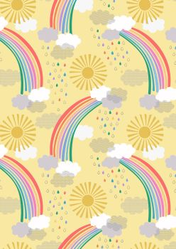 Lewis and Irene -  Rainbows - Bright Rainbows on Yellow