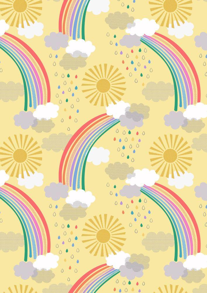 Lewis and Irene -  Rainbows - Bright Rainbows on Yellow