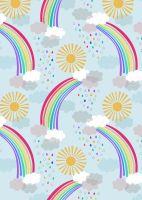 Lewis and Irene -  Rainbows - Pastel Rainbows on Light Blue