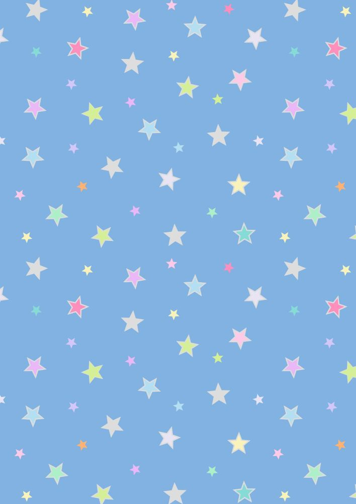 Lewis and Irene -  Rainbows - Pastel Stars with Silver Metallic