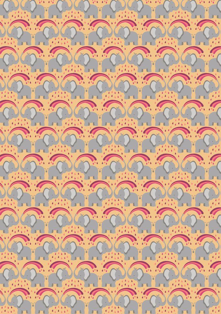 Lewis and Irene -  Rainbows - Rainbow Elephants on Ochre