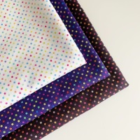 Lewis and Irene - Rainbows - Rainbow Dots - Felt Backed Fabric